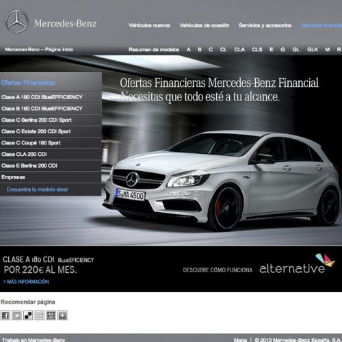 "Mercedes-Benz Financial Services: MB Alternative ""Dinos cómo"""
